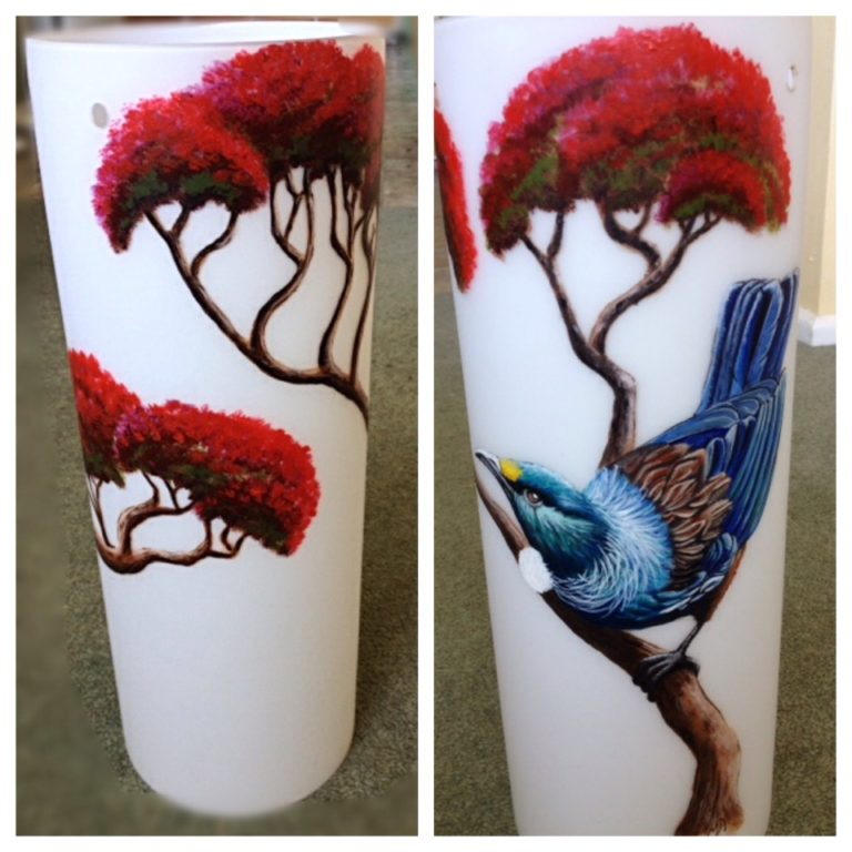Tui Pohukatawa glass paint