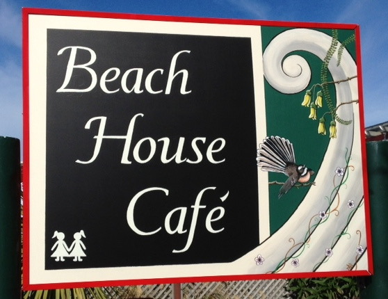beach house cafe sign writing