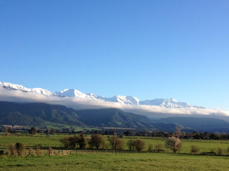 Kaikoura mountains cloud