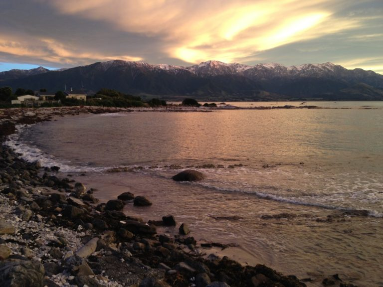 Kaikoura town and mountains