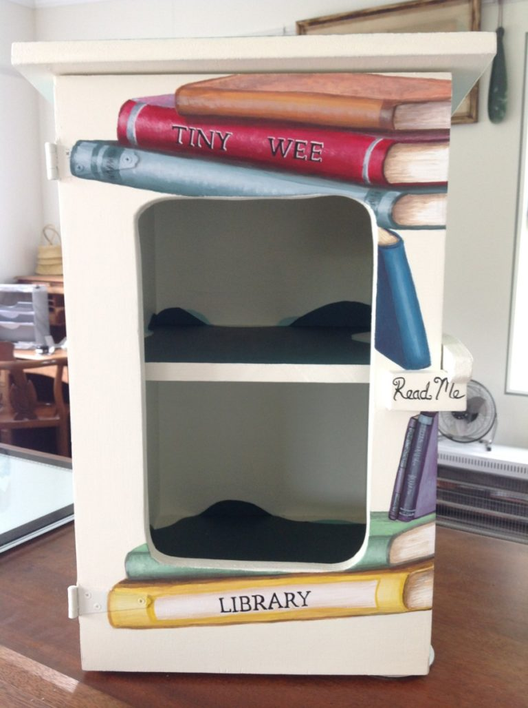 tiny library front